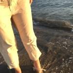 Wading in the Caspian Sea