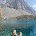 Putting my feet up Fann mountains