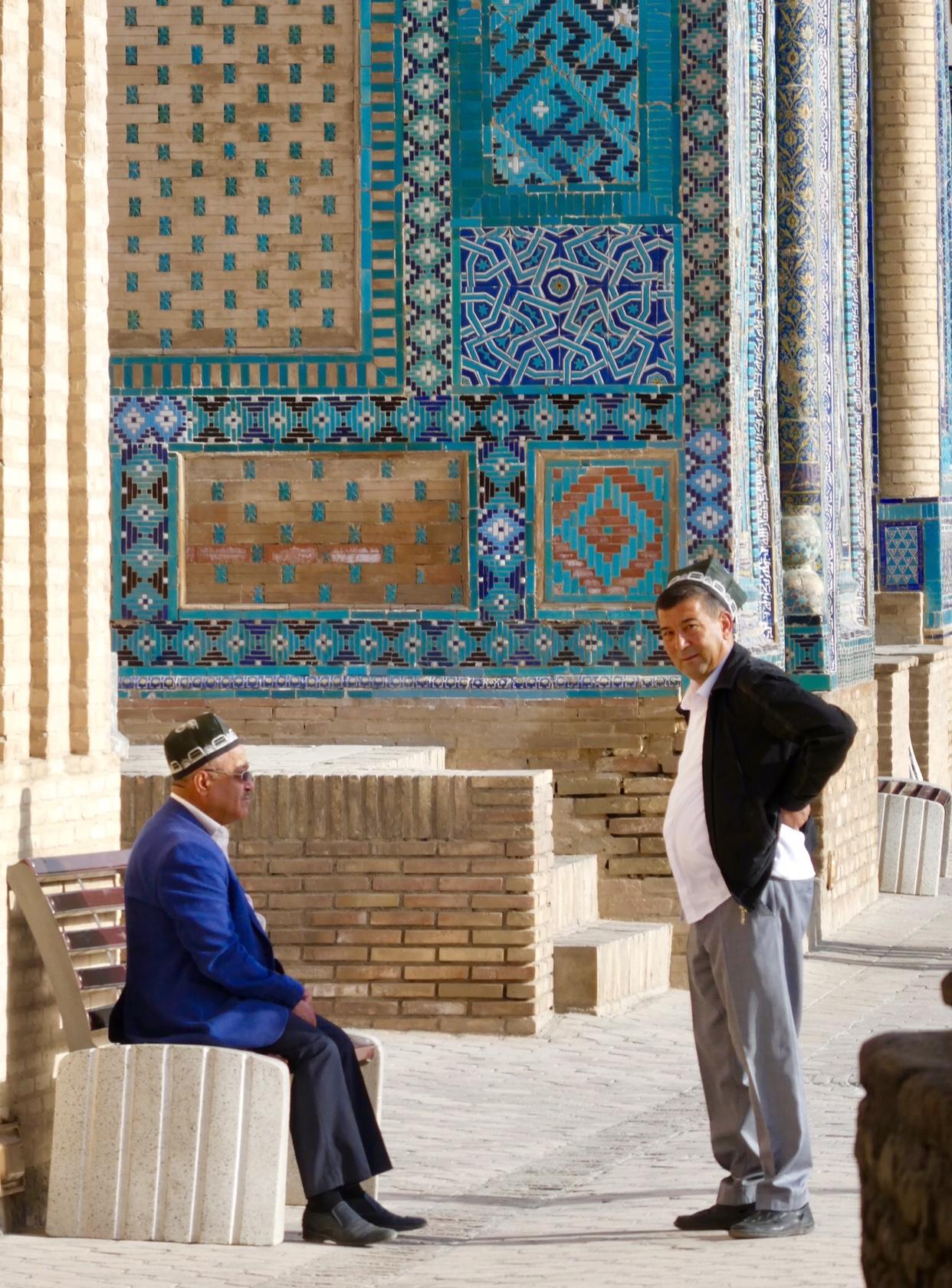 Uzbek men talking