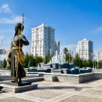 Views of marble city of Ashgabat