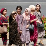 Ladies walking in Dushanbe