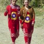 Girls walking Pamirs
