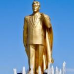 Golden statue of Turkmenbashi first president