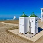 Beach views Caspian Sea