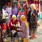 Shopping at Osh bazaar