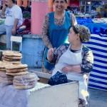 Selling bread Khojand market