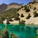 Crystal clear lakes Fann mountains