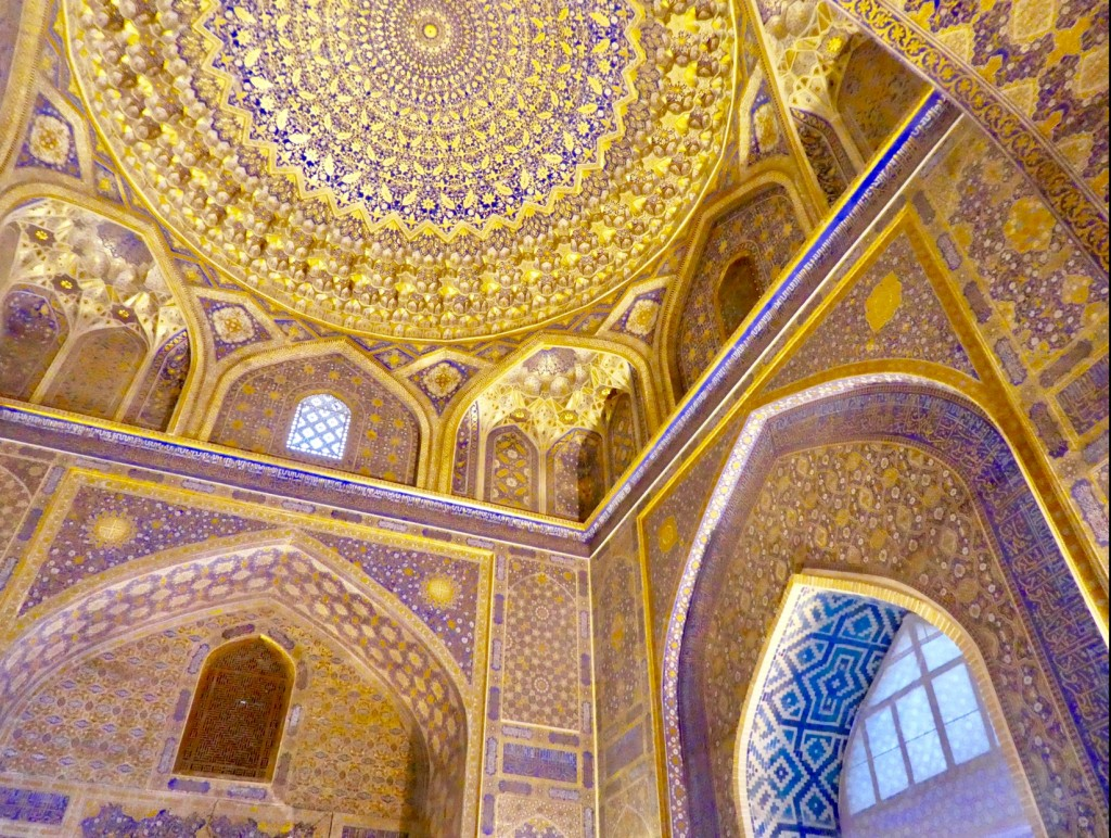 Golden Mosque ceiling