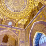 Golden Mosque ceiling