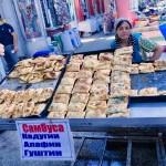 Selling samsa snacks Khojand market