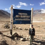 Highest point driving the Pamirs
