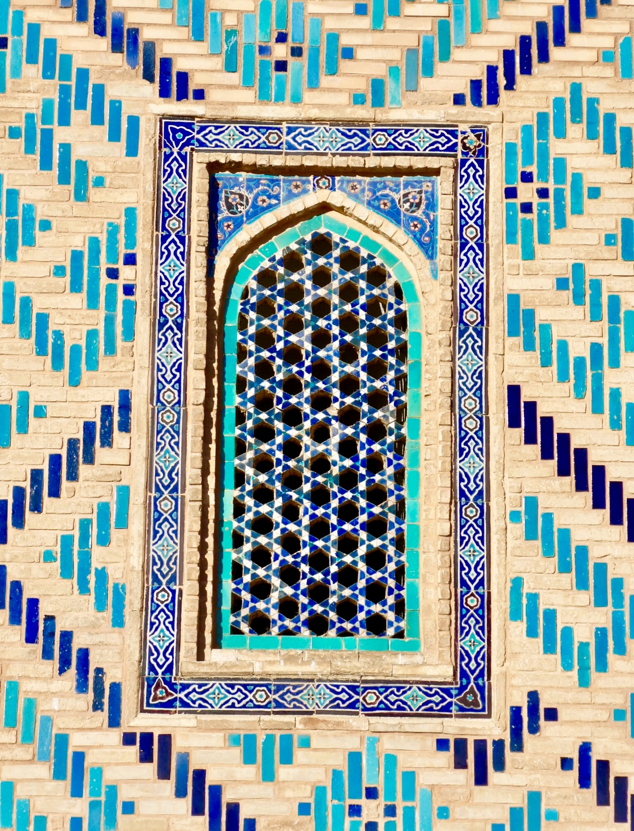 Majolica tiles Turkistan